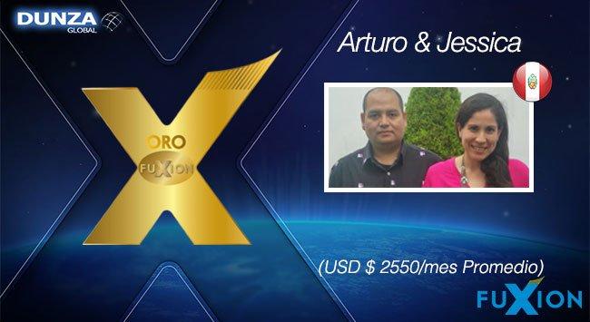 Arturo Carrillo y Jessica Yataco - Oro FuXion-DunzaGlobal - DunzaGlobal.com