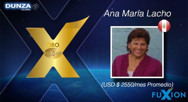 Ana María Lacho - Perú - Oro FuXion-DunzaGlobal - DunzaGlobal.com