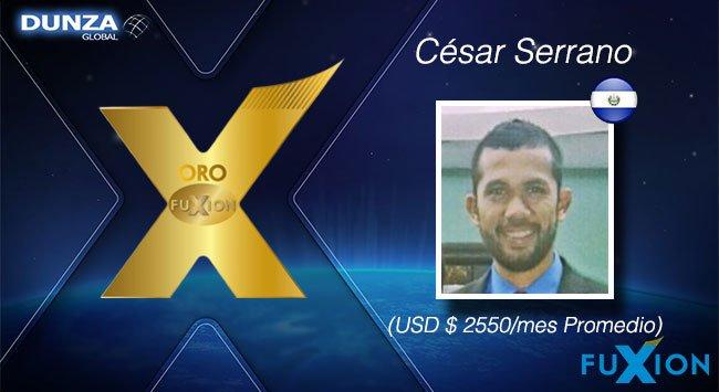 César Serrano - El Salvador - Oro FuXion-DunzaGlobal - DunzaGlobal.com