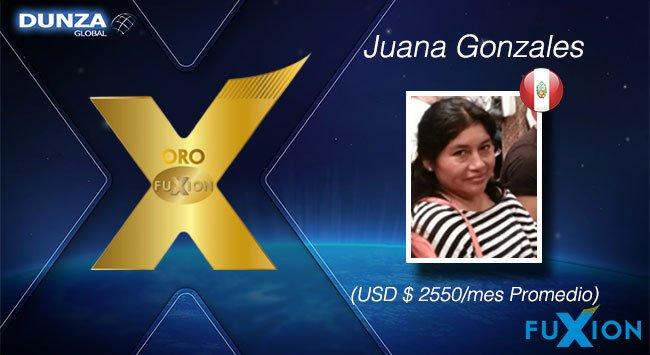 Juana Gonzales - Perú - Oro FuXion-DunzaGlobal - DunzaGlobal.com