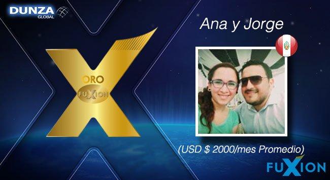 Ana Távara y Jorge Vizconde - Perú - Oro - DunzaGlobal - FuXion - DunzaGlobal.com