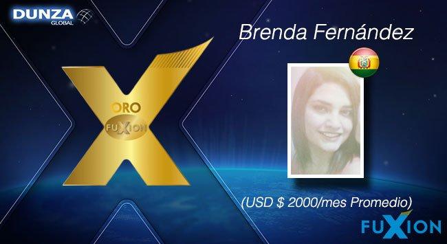 Brenda Fernández - Bolivia - Oro - DunzaGlobal - FuXion - DunzaGlobal.com