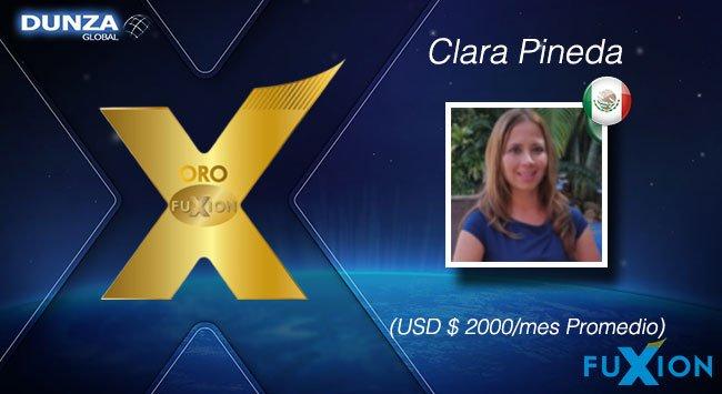 Clara Pineda - México - Oro - DunzaGlobal - FuXion - DunzaGlobal.com
