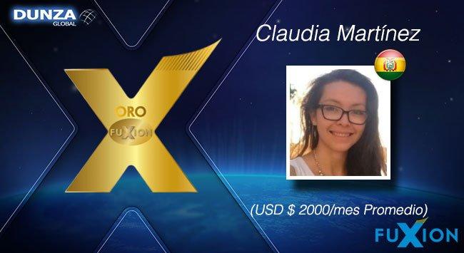 Claudia Martínez - Bolivia - Oro - DunzaGlobal - FuXion - DunzaGlobal.com