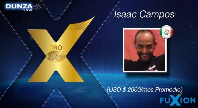 Isaac Campos - México - Oro - DunzaGlobal - FuXion - DunzaGlobal.com