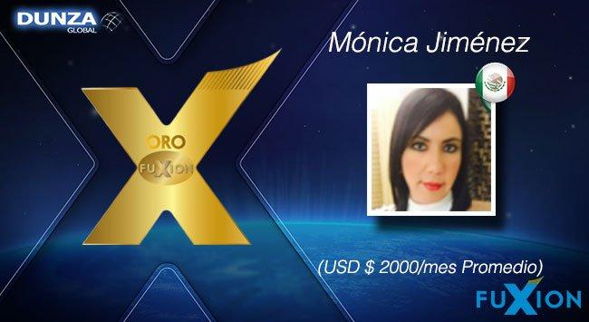 Mónica Jiménez - México - Oro - DunzaGlobal - FuXion - DunzaGlobal.com